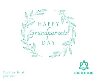 Elegant Classic Grandparents Day Facebook post