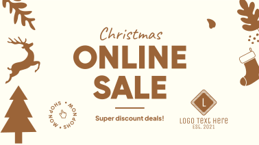 Christmas Online Sale Facebook event cover
