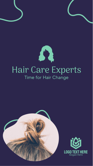 Time for Hair Change Facebook story