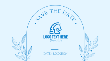 Save the Date Frame Facebook Event Cover