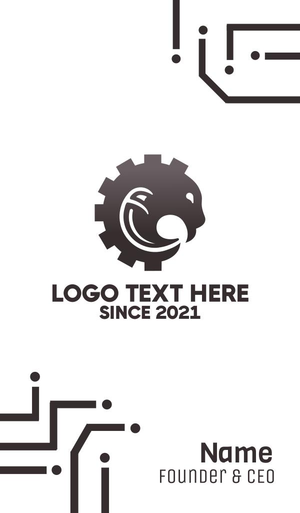 Wild Mechanical Cog Business Card