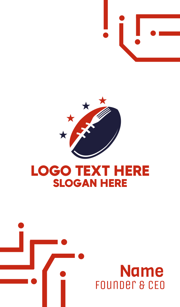 American Football Diner Business Card