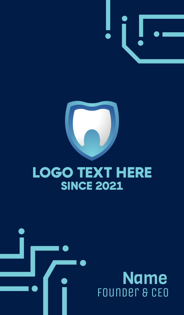 Dental Teeth Shield Business Card