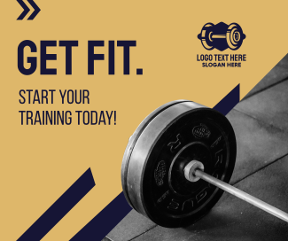 Get Fit Weight Lifting  Facebook post