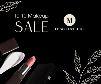 10.10 Makeup Sale  Facebook post