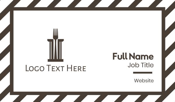 pasta - Fork Pillar Business card horizontal design