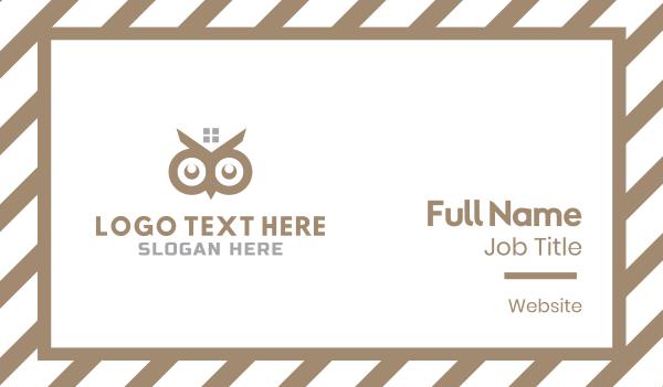 owl - Owl Eyes Business card horizontal design