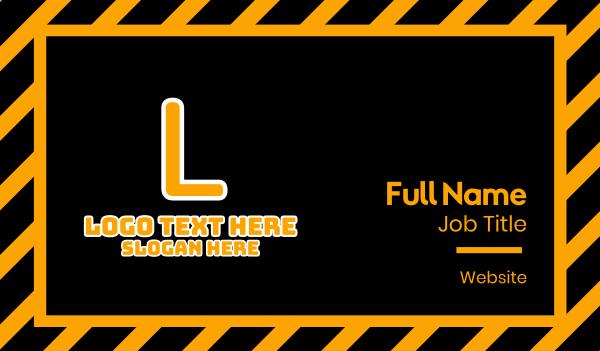 playstation - Game Orange Text Business card horizontal design