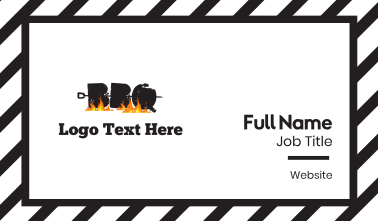 Barbecue Letters Business Card