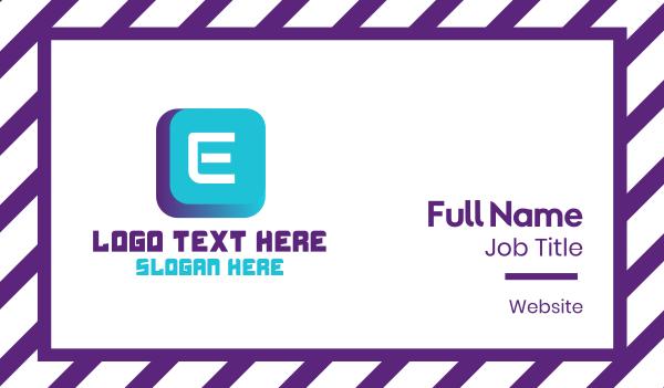device - Futuristic Lettermark Keyboard Business card horizontal design
