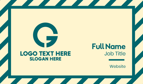 basic - Simple Basic Letter G Business card horizontal design