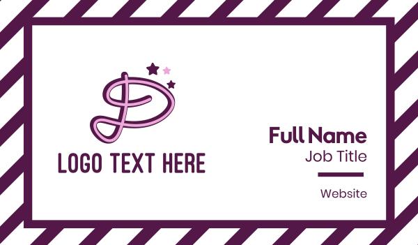 beauty - Star Letter D Business card horizontal design