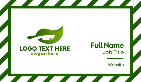 green - Vegetable Cuisine Business card horizontal design