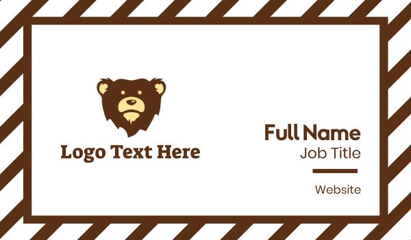 brown bear - Brown Bear Mascot Business card horizontal design