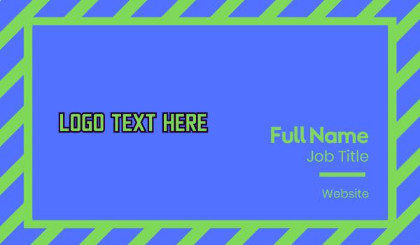 fest - Punk Wordmark Business card horizontal design