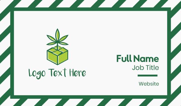 dispensary - Cannabis Box Business card horizontal design