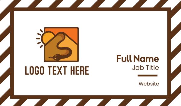 orange sun - Snake Desert Dune Business card horizontal design