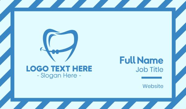 braces - Orthodontist Dental Tooth Braces Business card horizontal design
