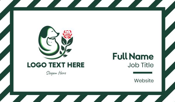 furry - Furry Lovers Business card horizontal design