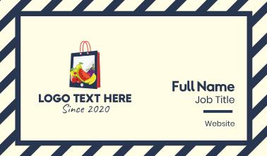 Mobile Fruit Shopping Bag Business Card