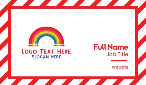 fest - Rainbow  Dots Business card horizontal design