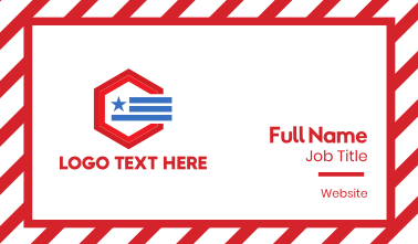 Political Hexagon Business Card