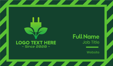 Eco Leaf Energy Plug Business Card