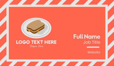 Cheese Sandwich Plate Business Card