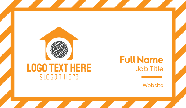 debt - Orange House  Business card horizontal design