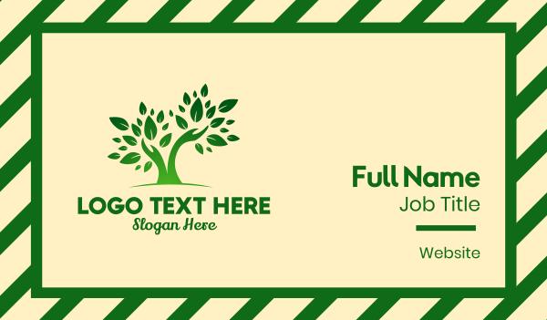 aroma - Green Gardener Hands Business card horizontal design