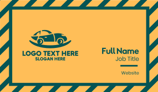 Green Car Cradle Business Card