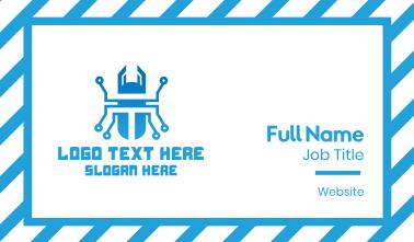Blue Tech Beetle Business Card