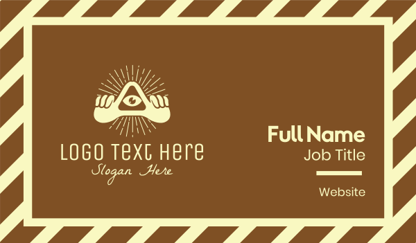 bohemian - Bohemian Triangle Eye Business card horizontal design