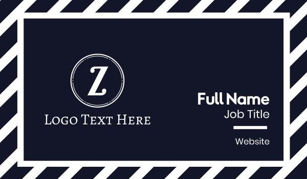 lettermark z - White Z Coin Business card horizontal design