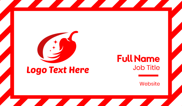chili sauce - Red Space Chili Business card horizontal design