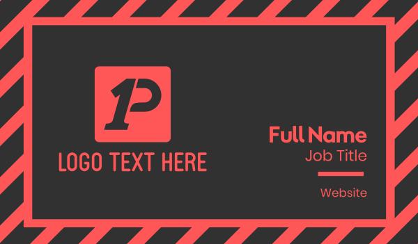 rally - Black & Red Box App Business card horizontal design