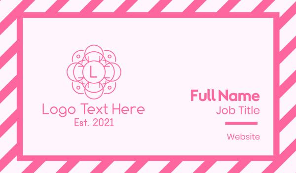beauty vlog - Pink Wellness Letter Business card horizontal design