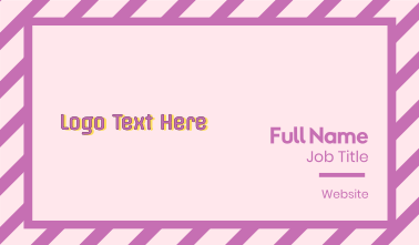 Party Text Business Card