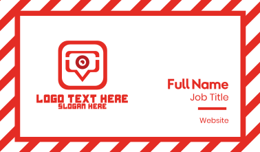 Red Video Chat App Business Card