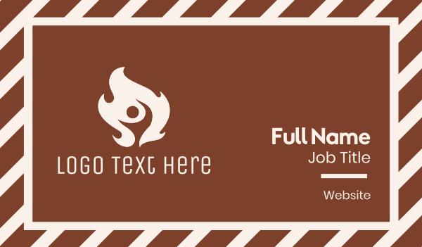 fireman - White Hot Fire Man Business card horizontal design