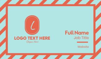 Orange Shop Lettermark Business Card