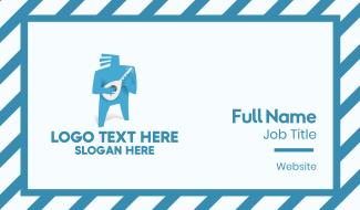 Blue Musician Business Card