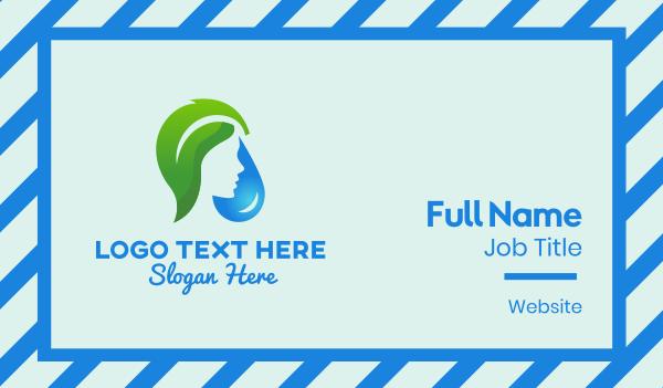 zest - Leaf Water Maiden Business card horizontal design