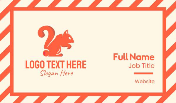 tutorial center - Curious Squirrel  Business card horizontal design