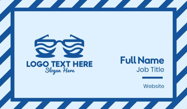 eyewear - Ocean Wave Sunglasses  Business card horizontal design