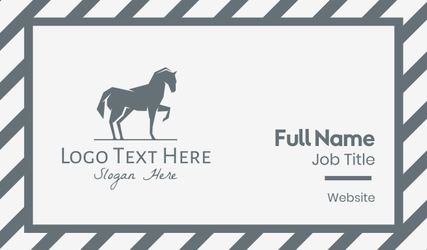 wild animal - Gray Horse Business card horizontal design