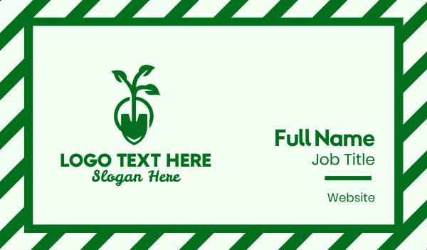 green thumb - Gardening Spade Business card horizontal design