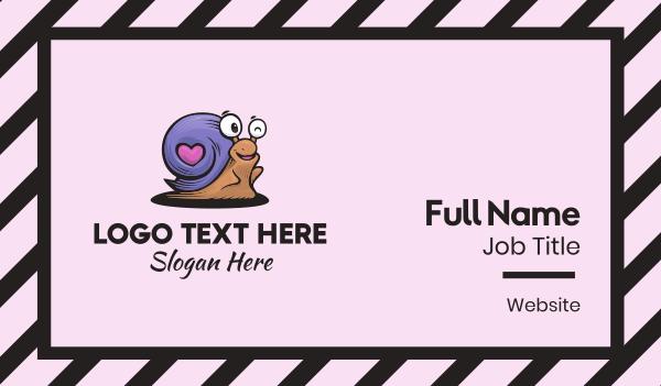 shell - Purple Snail Business card horizontal design