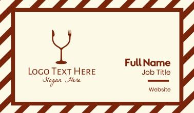 Drink & Eat Restaurant Business Card