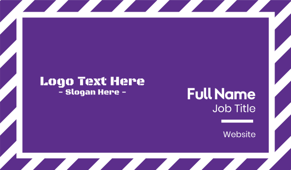 pubg - Purple Army Text Business card horizontal design